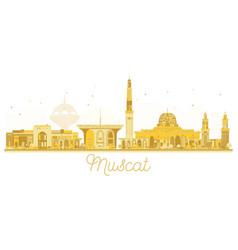 Muscat oman city skyline golden silhouette vector