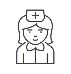 nurse sign line icon sign on vector image