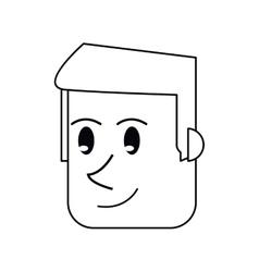 Pictogram face man front smiling design vector