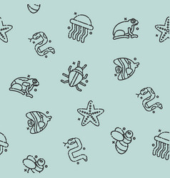poisonous creatures concept icons pattern vector image