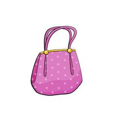 pop art style handbag sticker vector image