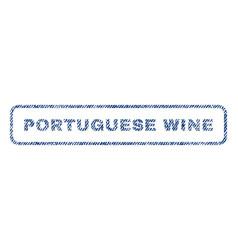 Portuguese wine textile stamp vector