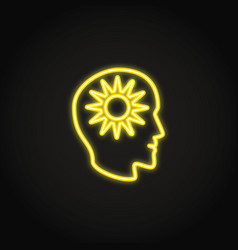 positive thinking concept neon icon in line style vector image