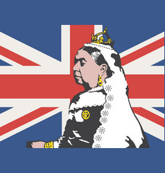queen victoria vector image