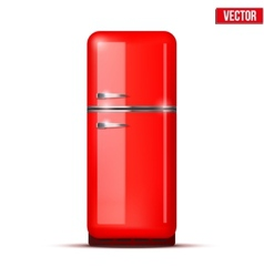 Retro Fridge refrigerator isolated on white vector