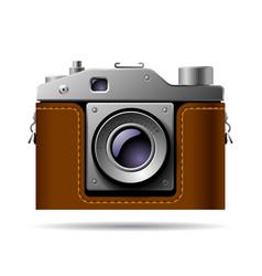 retro photo camera icon isolated on white vector image