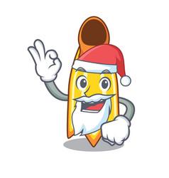 Santa swim fin mascot cartoon vector
