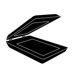Scanner icon in black style isolated on white vector