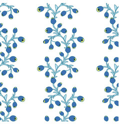 seamless floral pattern of berries vector image