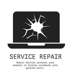 Service repair banner vector