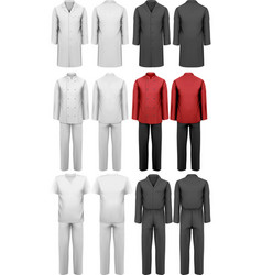 Set of various work clothes vector image