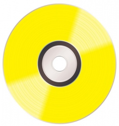 Shiny gold cd vector
