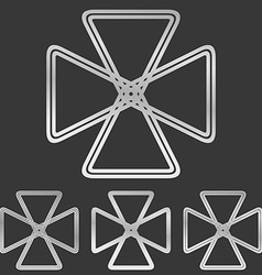 Silver line loop logo design set vector