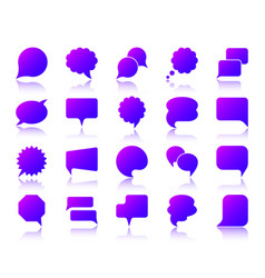 speech bubble simple gradient icons set vector image