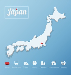 states japan map vector image