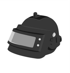 Steel helmet pubg flat design icon vector