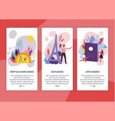traveling internet web page templates tour and vector image