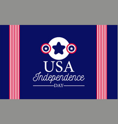 usa independence day banner with flag elements vector image