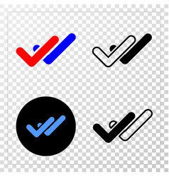valid ticks eps icon with contour version vector image