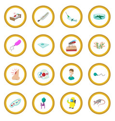 Virus cartoon icon circle vector