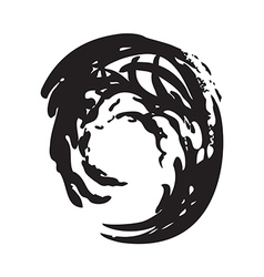 wave circle isolated background black and white vector image