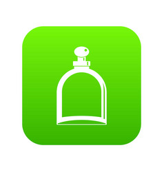 white glass bottle with perfume icon digital green vector image