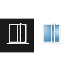 window frame on background vector image