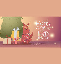 banner template for christmas and new year vector image