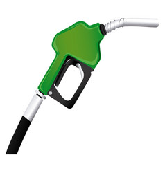colorful silhouette with gasoline pump nozzle vector image