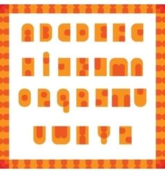 English alphabet pop art retro font vector