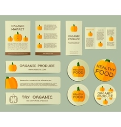 Organic business corporate identity design with vector image vector image