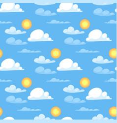 weather cloudy summer blue sky sun pattern season vector image vector image
