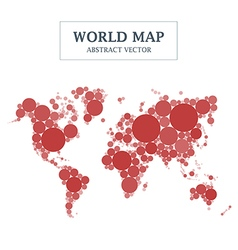 World Map Circle and Dot Design vector image