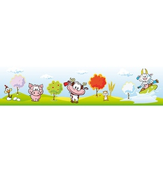 animal farm banner vector image vector image