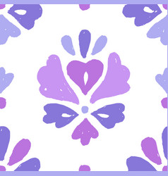 Beautiful floral ornament pattern vector