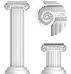 Classical greek or roman ionic column vector