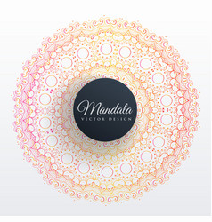 colorful mandala decoration design background vector image