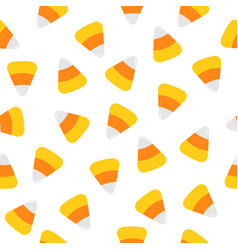 happy halloween candy corn seamless pattern vector image vector image