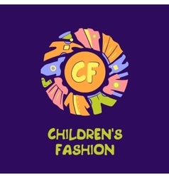 logo for child fashion Template for vector image