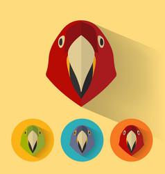 parrot portrait with flat design vector image
