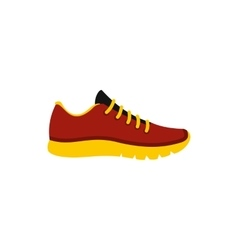 Red sneaker icon flat style vector image