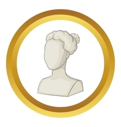 Sculpture head of woman icon vector image vector image