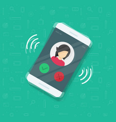 Smartphone or mobile phone ringing vector