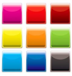 square plastic web icon vector image vector image