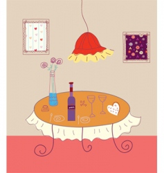 table drawing vector image vector image