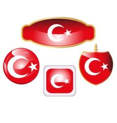 Turkey-flag-icon-set vector image
