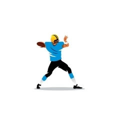 American football sign Player sends the ball vector image