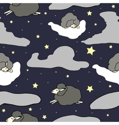 Cartoon seamless night pattern vector image vector image