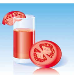fresh tomato juice vector image vector image