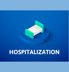 hospitalization isometric icon isolated on color vector image